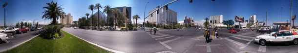 Click for Hi-res 360 Photo: The Luxor and Excalibur Hotels